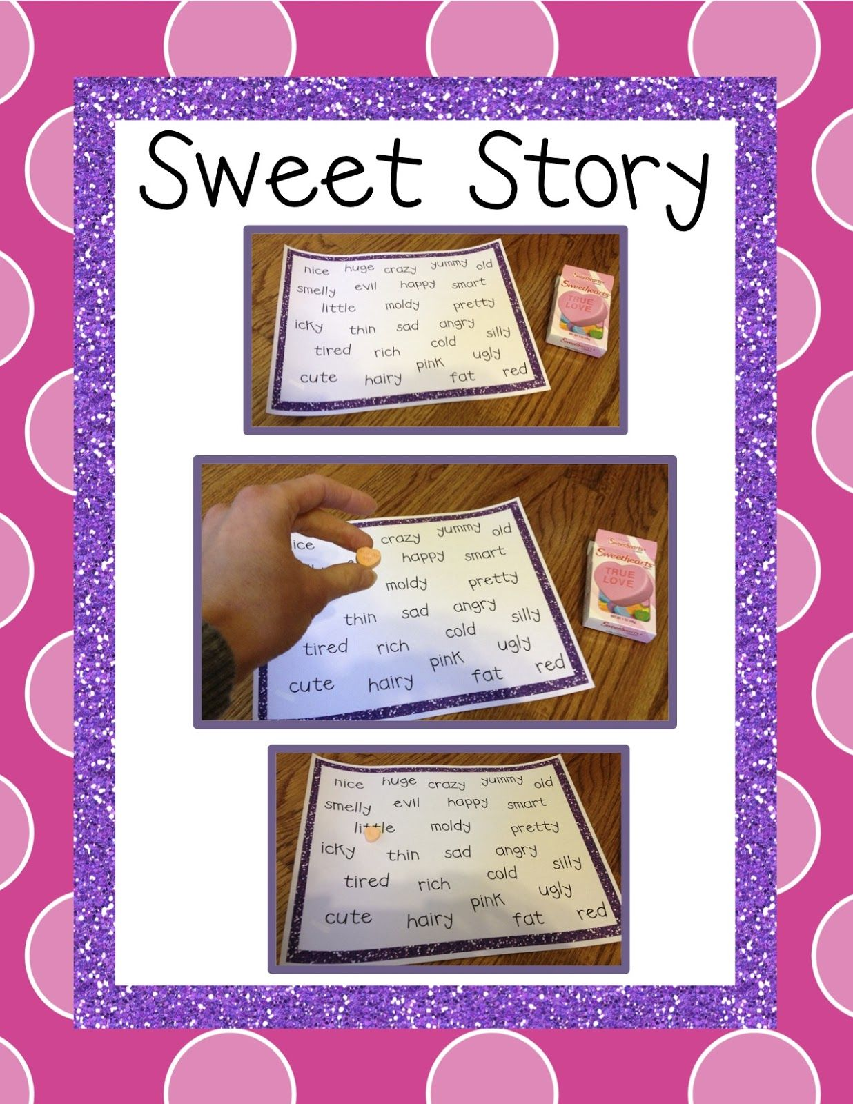 Teacher Idea Factory: THE RETURN OF MY SWEET STORY - ADJECTIVE FREEBIE