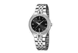 1846898f135023 cool montre femme festina f acier strass et cadran noir with montre femme  cadran noir