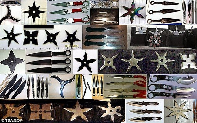 Sharp A Selection Of Ninja Stars And Other Jagged Objects