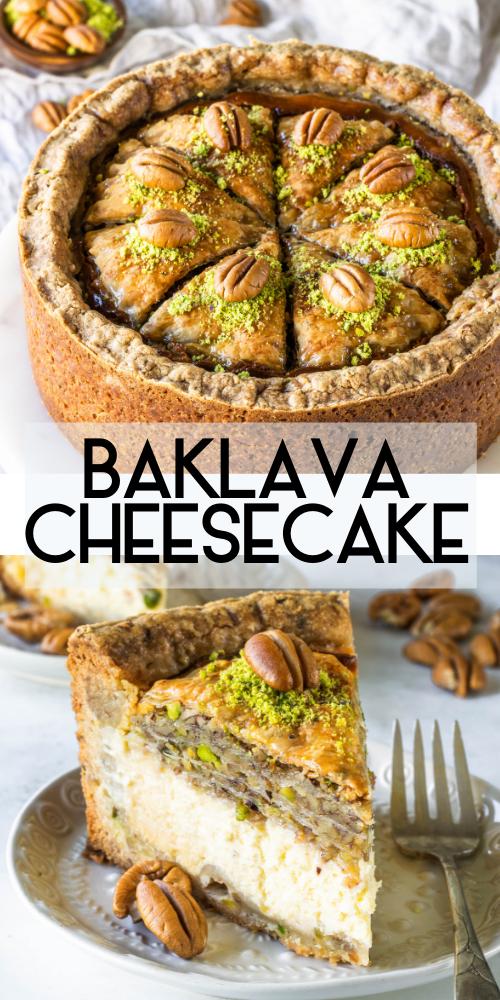 Baklava cheesecake Baklava cheesecake