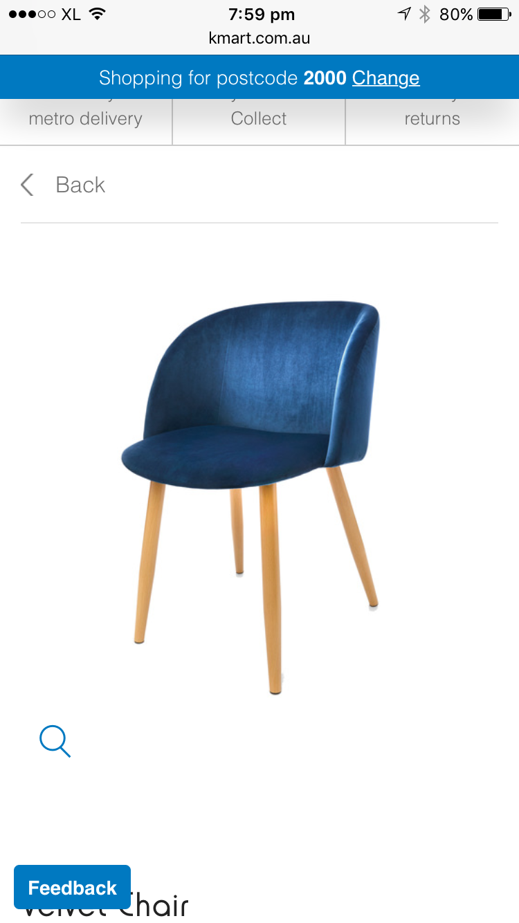 Kmart blue velvet chairs 39. Dining chairs with Louis