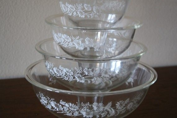 Pyrex clear glass mixing bowl set in 2019 Pyrex bowls