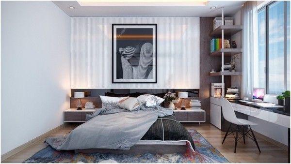 30 Ideen für modernes Schlafzimmer Design mit Lattenrost Interior