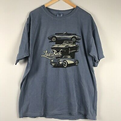 Laid-Back Garage GM USA Shirt Classic Cars Blue X-Large XL New With Tags  | eBay