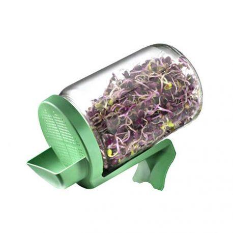 Práctico germinador, con soporte para mantener inclinado y además recoger el agua sobrante. Germina tus semillas fácilmente.