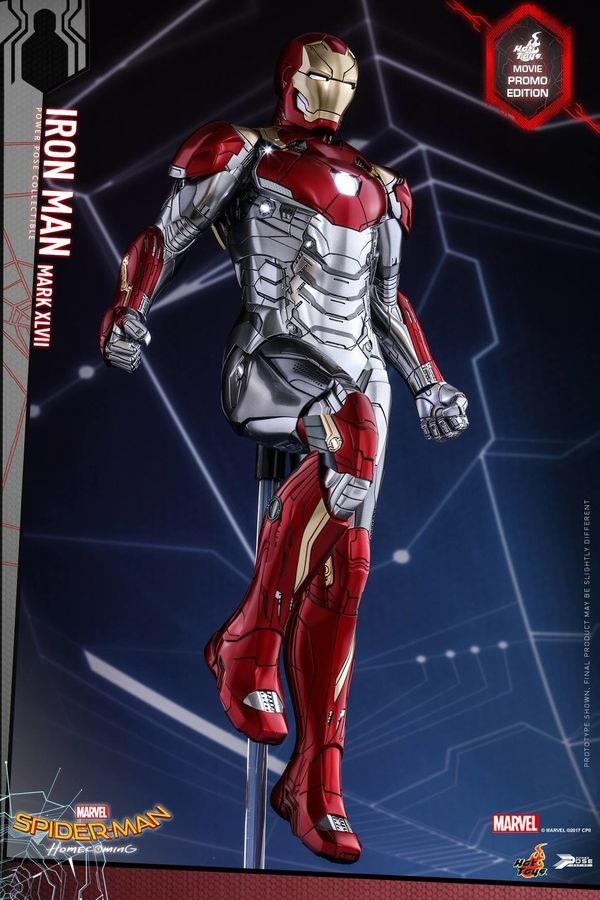 Official Images For The 1 6 Spider Man Homecoming Iron Man Power