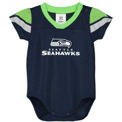 Infant Seattle Seahawks Navy Dazzle Bodysuit