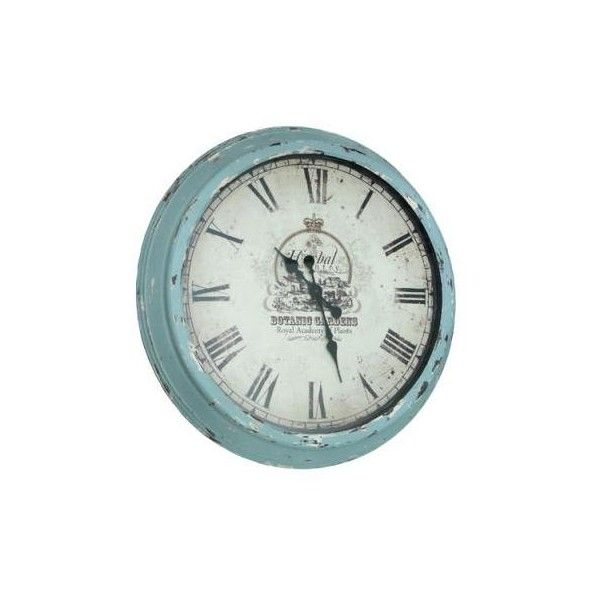 Giant Antique Botanical Gardens Wall Clock | DotComGiftShop ($87) ❤ liked on Polyvore featuring home, home decor, clocks, fillers, decor, furniture, watches, antique wall clock, antique home decor and antique clock