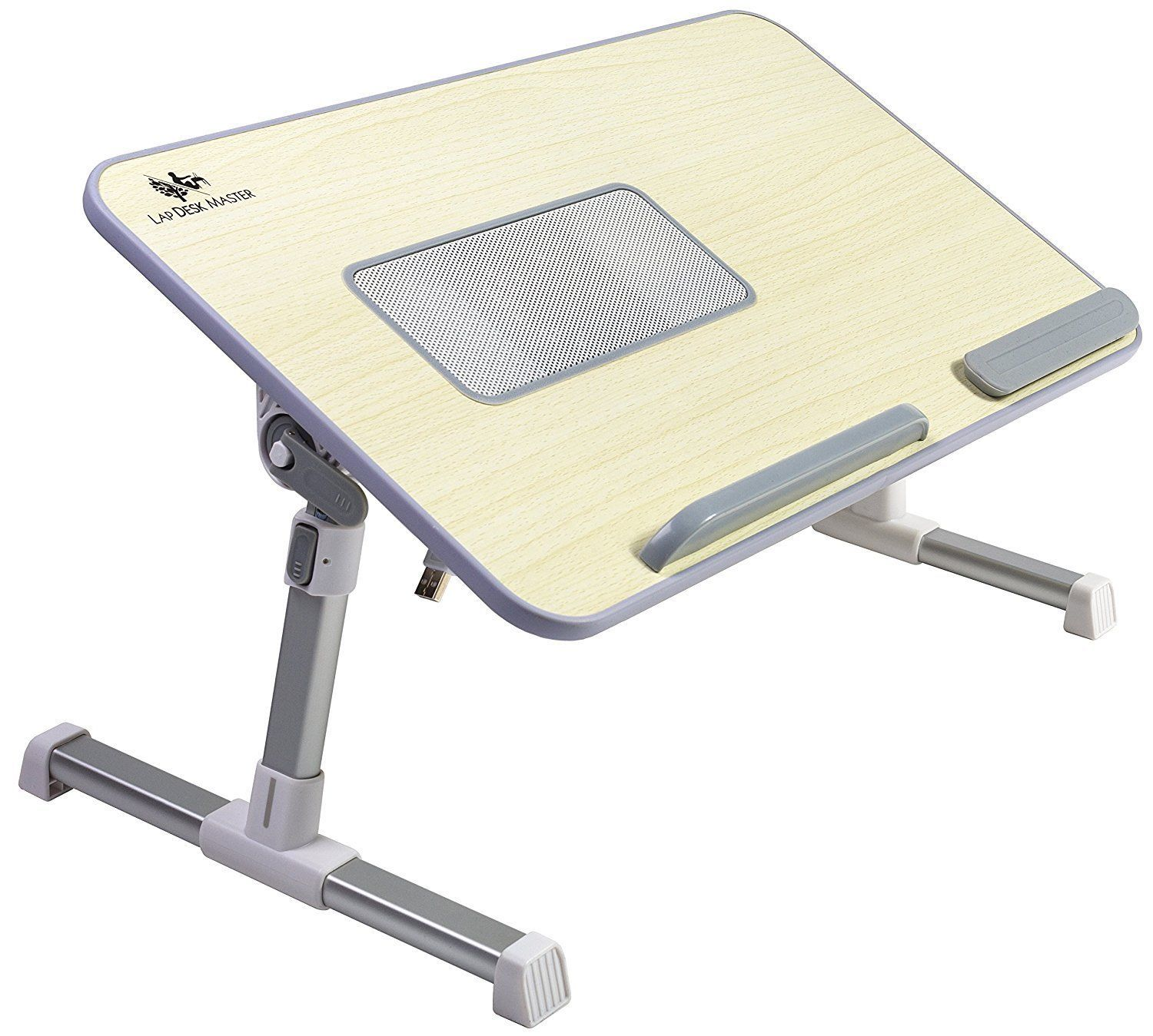 Lap Desk Master Adjustable Laptop Bed Tray Table With Cooling Fan Portable  Desk