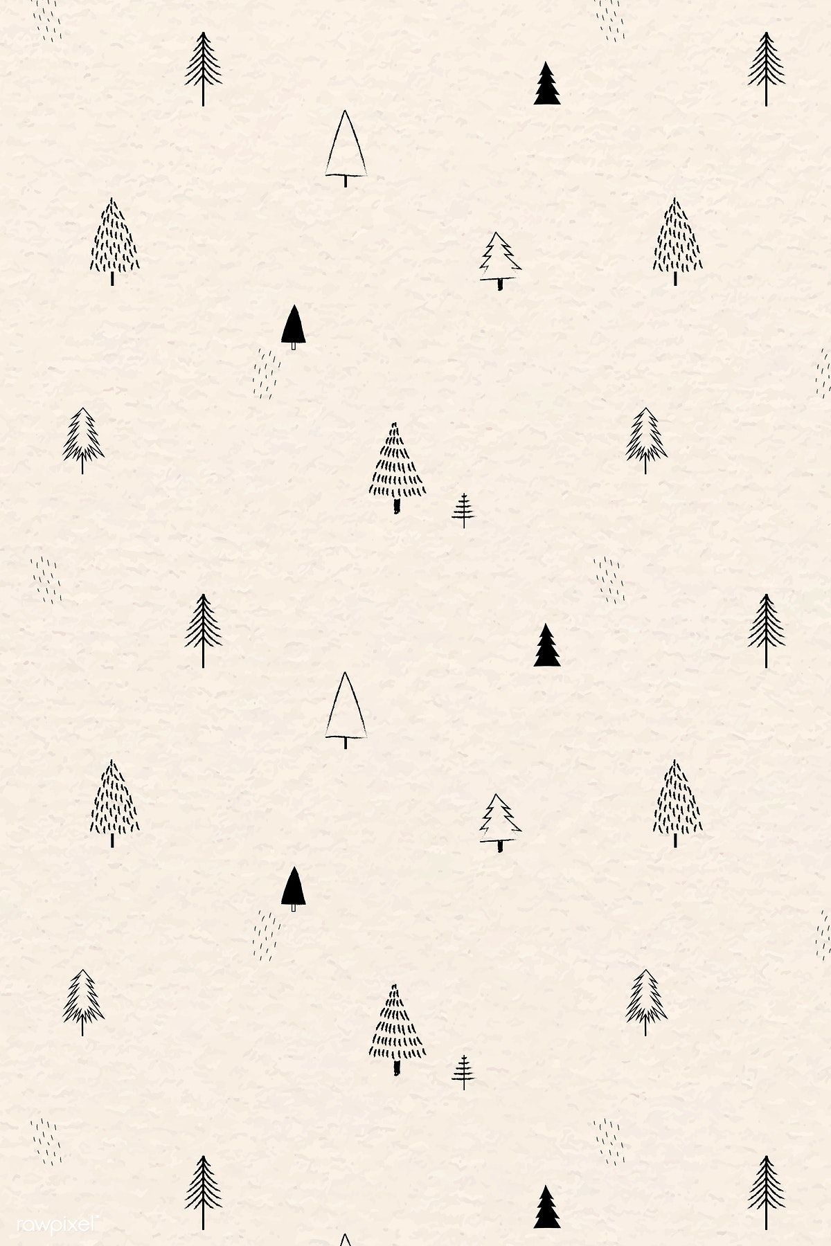 Download Premium Vector Of Christmas Elements Seamless Pattern Vector Christmas Phone Wallpaper Wallpaper Iphone Christmas Christmas Wallpaper