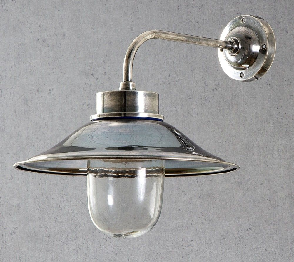 Sandhurst Wall Lamp In Antique Silver Outdoor Emac Lawton