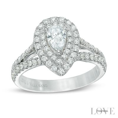 Vera Wang Love Collection 1 CT. T.W. Pear-Shaped Diamond and ...