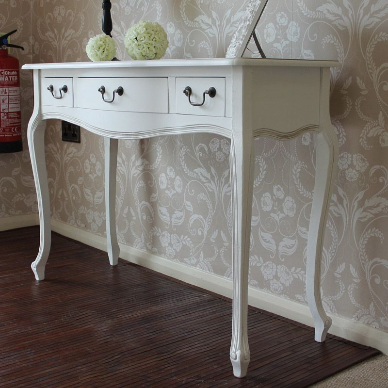 Classic White Range   3 Drawer Console Table
