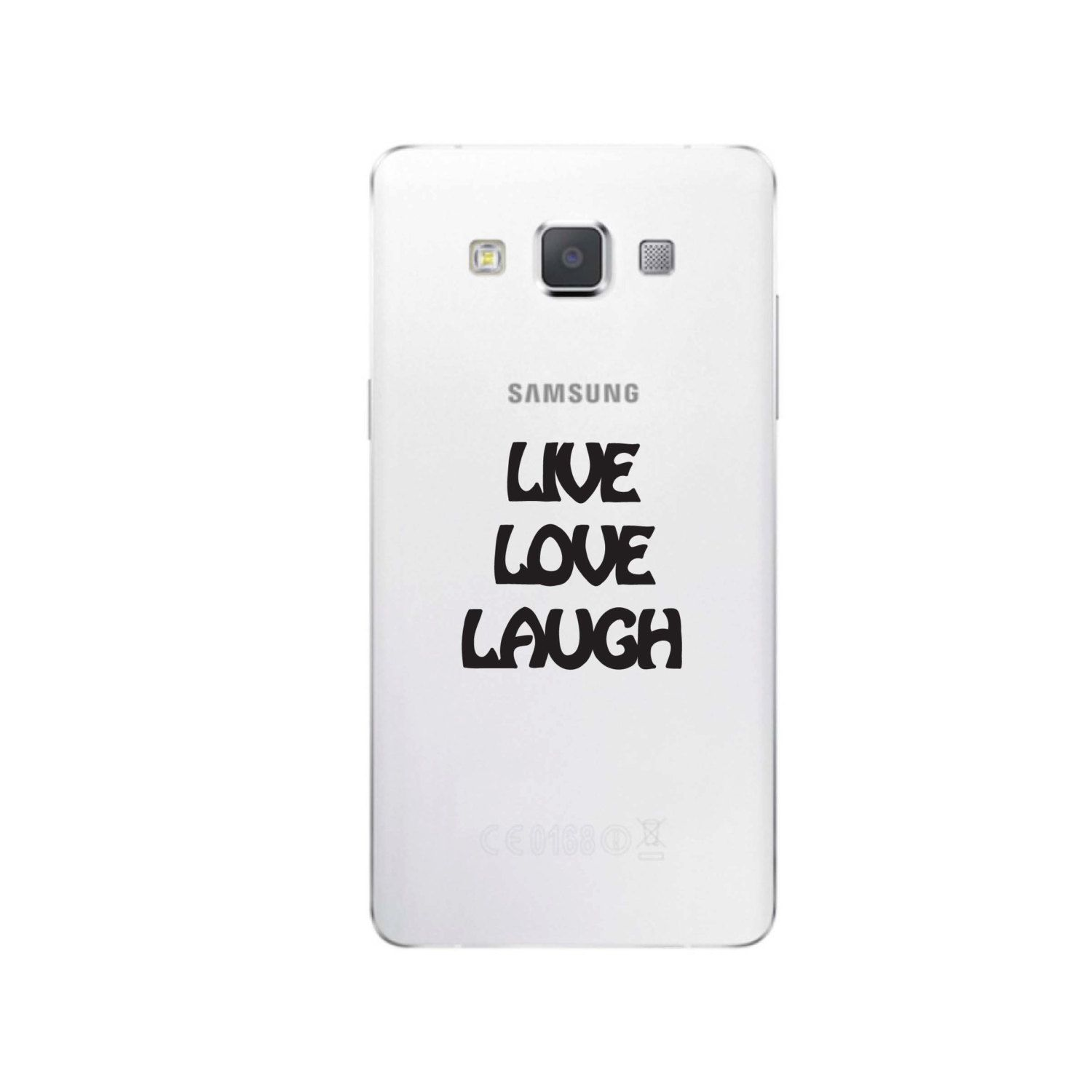Live love laugh cell phone sticker c225 by alohamauicreations on etsy