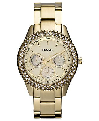 Fossil Watch, Women's Stella Gold Tone Stainless Steel Bracelet 37mm ES3101 - Fossil - Jewelry & Watches - Macy's