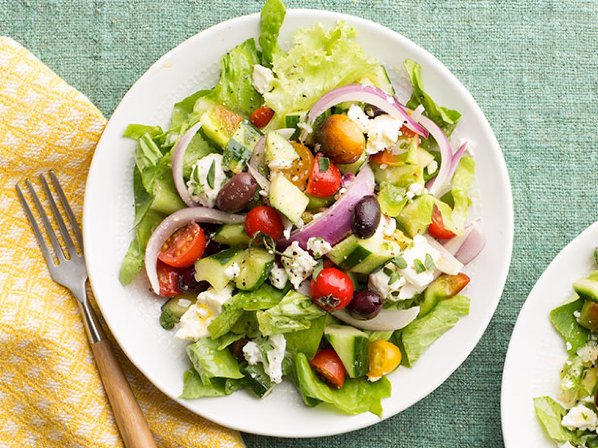 Hearty diner dinner salads food network greek salad recipes who says a salad cant be great comfort food order up diner favorites like greek and cobb salads loaded with meats cheeses and more at food network forumfinder Gallery