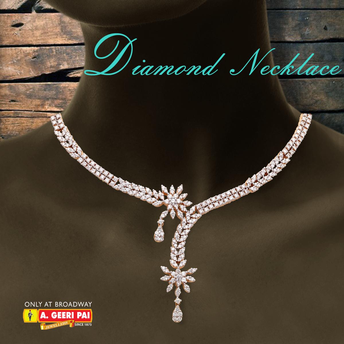 Diamond Necklace Price enquiries use the following link: http://goo.gl/cBBaou http://www.facebook.com/AGeeriPaiBroadway #Geeripai #ageeripai #gold #goldjewellery #jewellery #Diamond