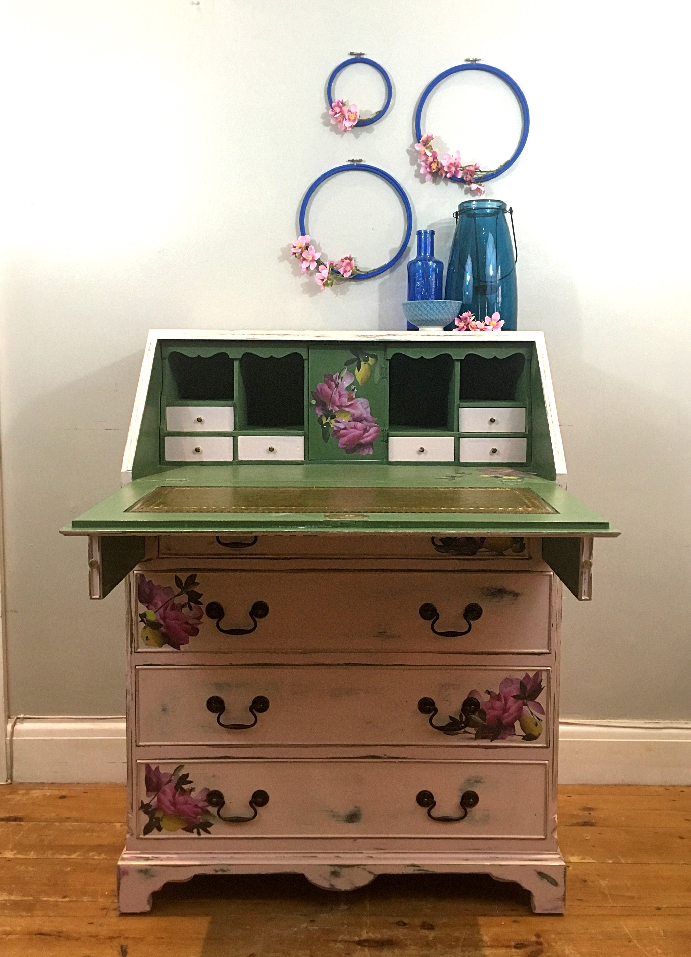 Great ... Available To Buy Through Brambles And Berries Etsy Shop. Vintage Bureau  / Vintage Desk / Writing Table / Vintage Furniture / Bespoke Furniture ...