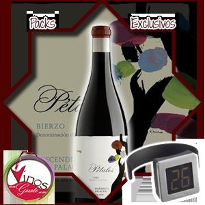 Pack disponible para comprar vino Pétalos del Bierzo con una super oferta con regalo incluido