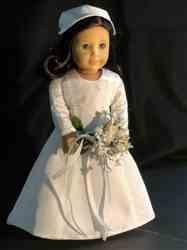 Genniewren Designs Wedding Day 1978 18 inch Doll Clothes Pattern | Pixie Faire #18inchdollsandclothes