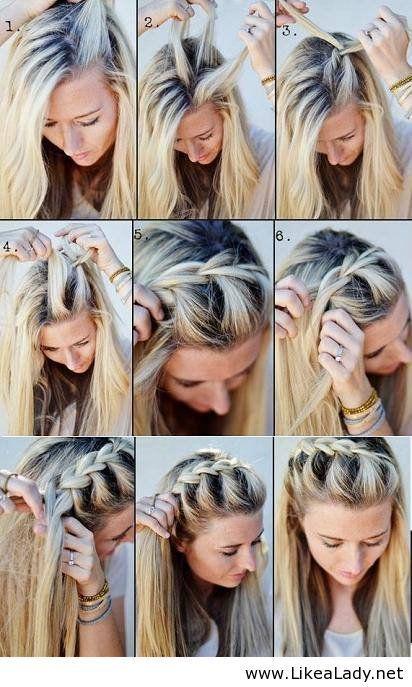 1 Haar Tutorial Vorne Franzosisch Flechten Frisuren