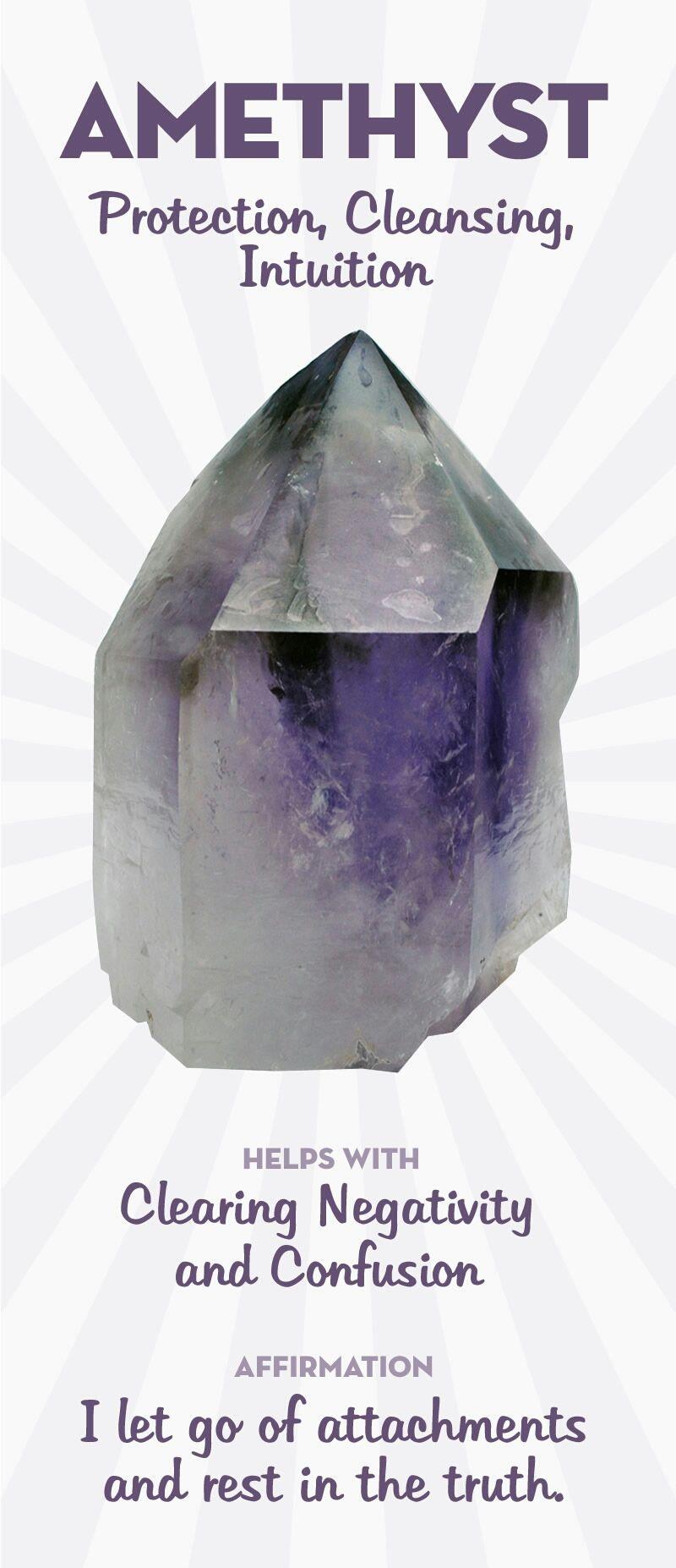February - Amethyst #crystalhealing