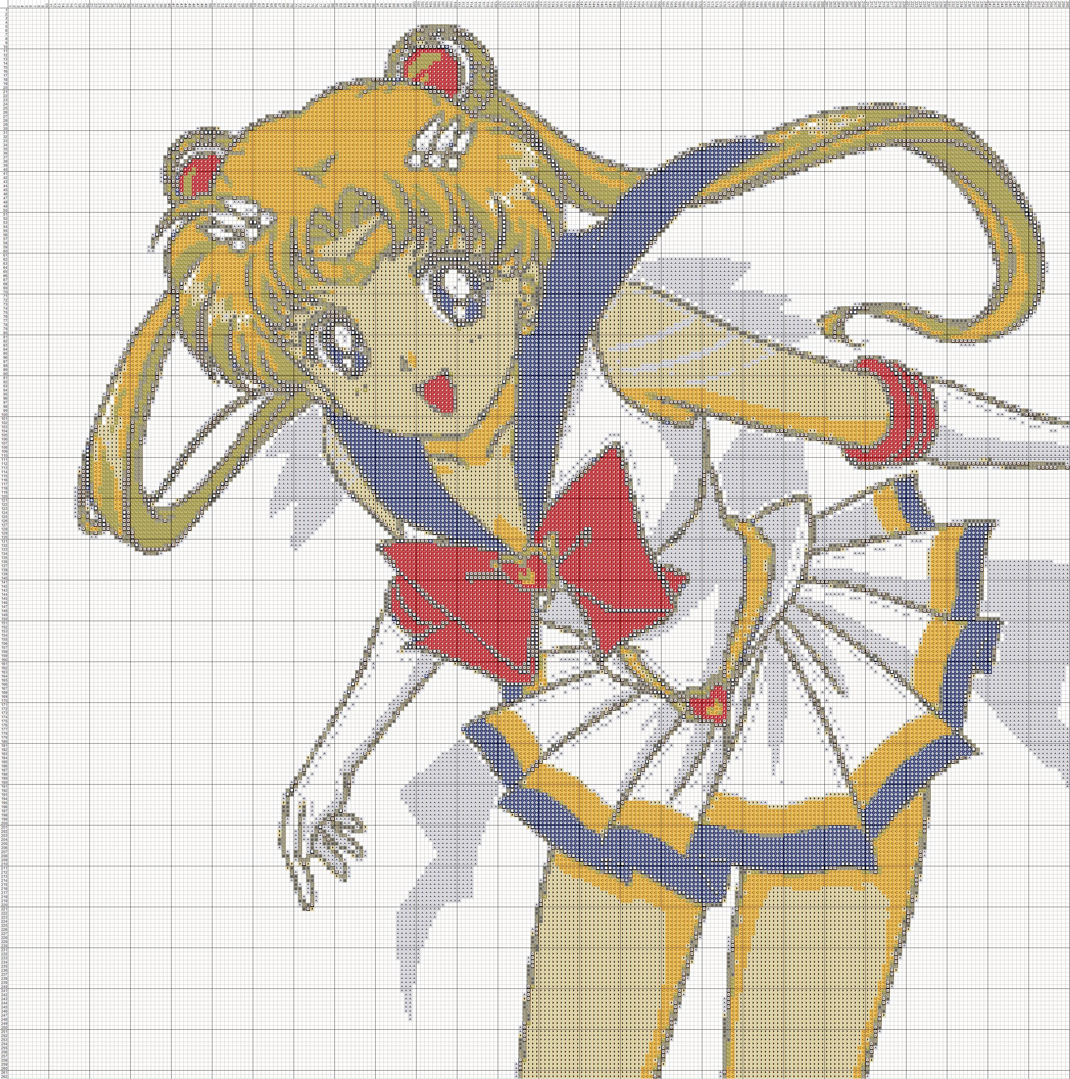 Pin By Martha Gil On Cross Stitch Dysney Figurak 3 Sailor Moon Crafts Sailor Moon Crochet Moon Cross Stitch