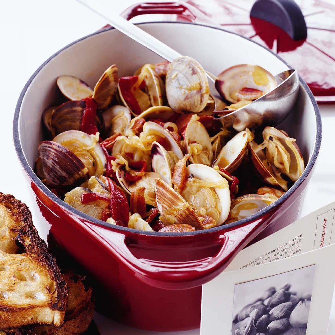 Portuguese Clam And Chorizo Stew Recipes Stew Recipes Portuguese Recipes