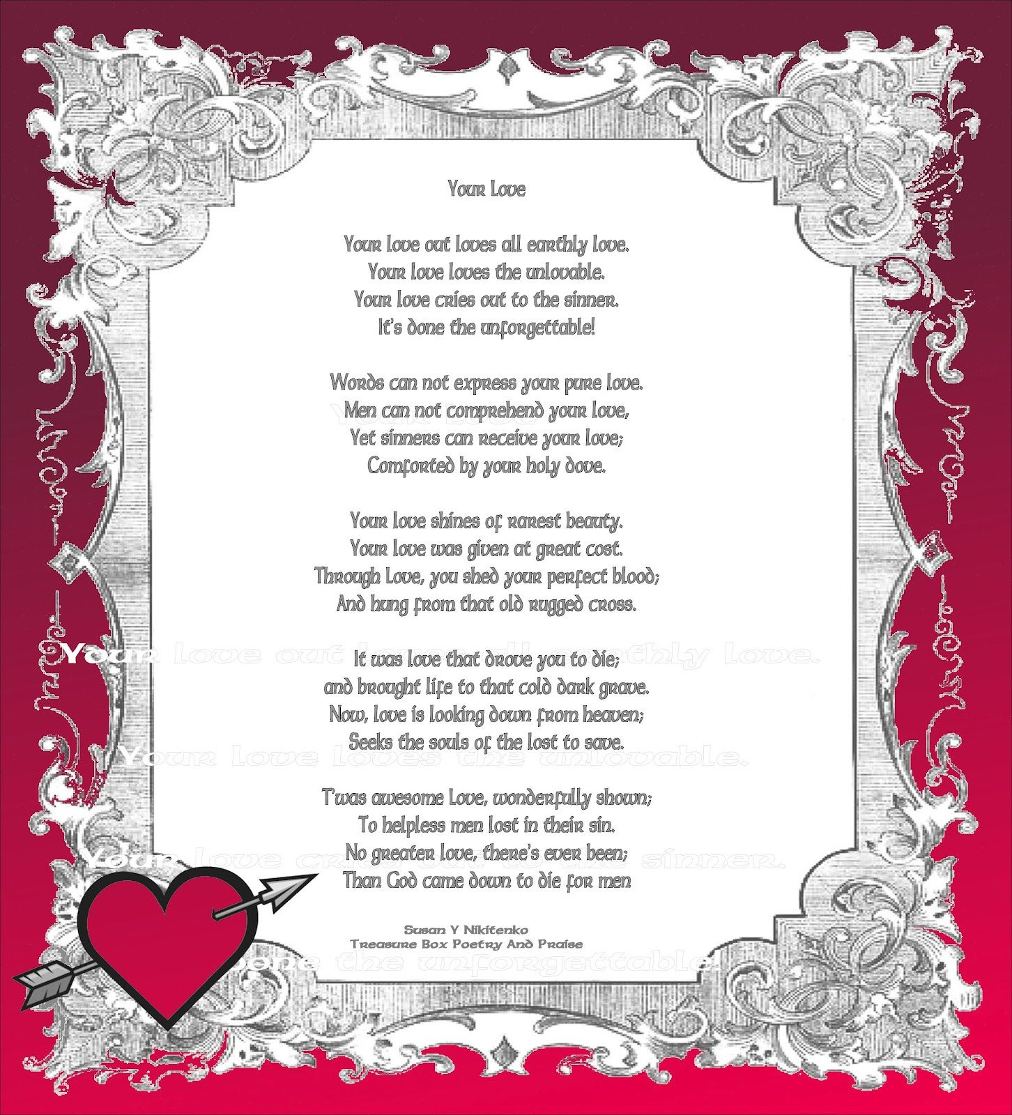 Christmas poems for church programs - Happy Valentines Day To My Husband And Wife Quotes Bible Christian Images In My Treasure Box Your Love Poem Poster