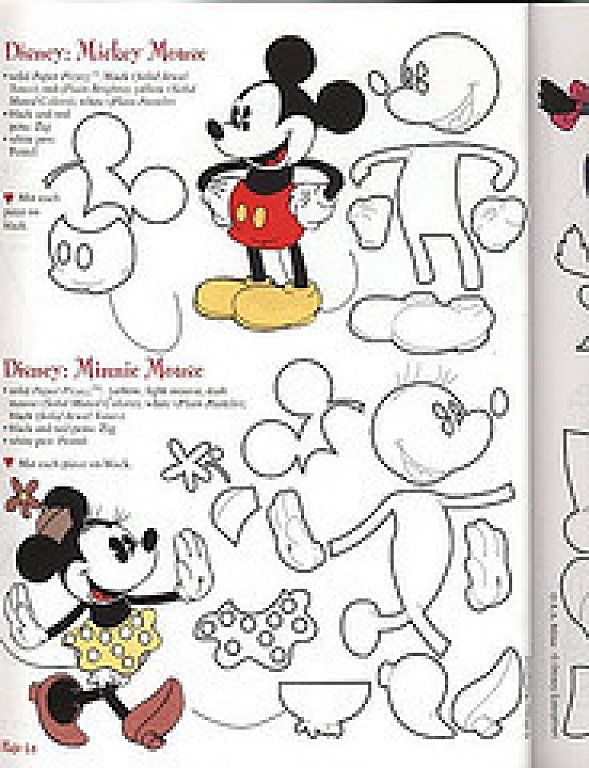 Moldes goma eva | Ratones, Mickey mouse y DIY y manualidades