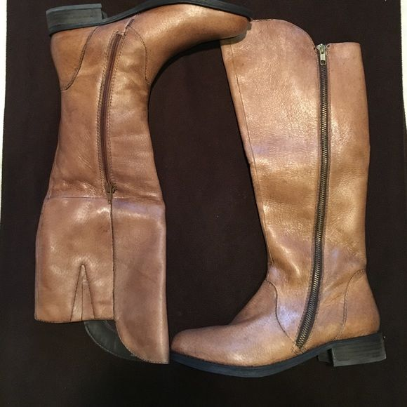 11e5ad43e87 NEW Steve Madden Shawny Cognac boots Brand new in the box. Never ...