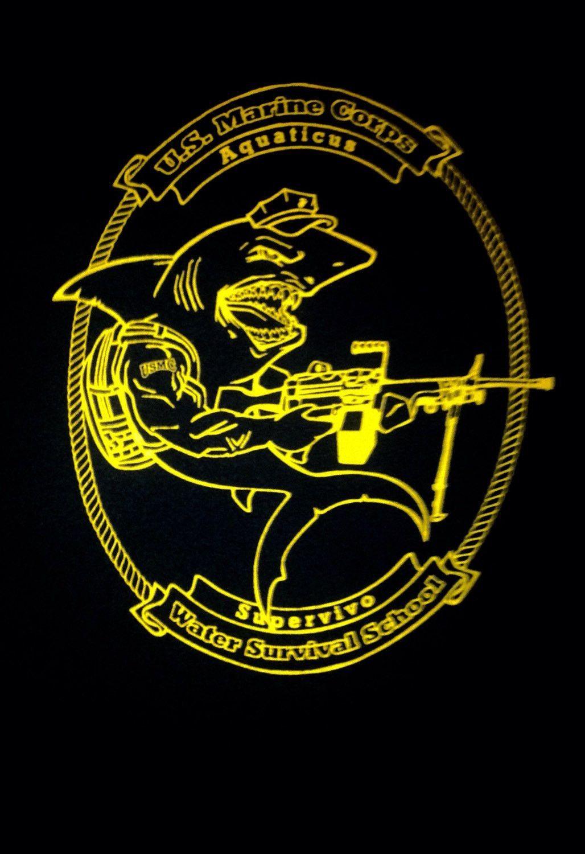 Mciws black and gold logo t shirts usmc us marine corps for Enemy tattoo everett