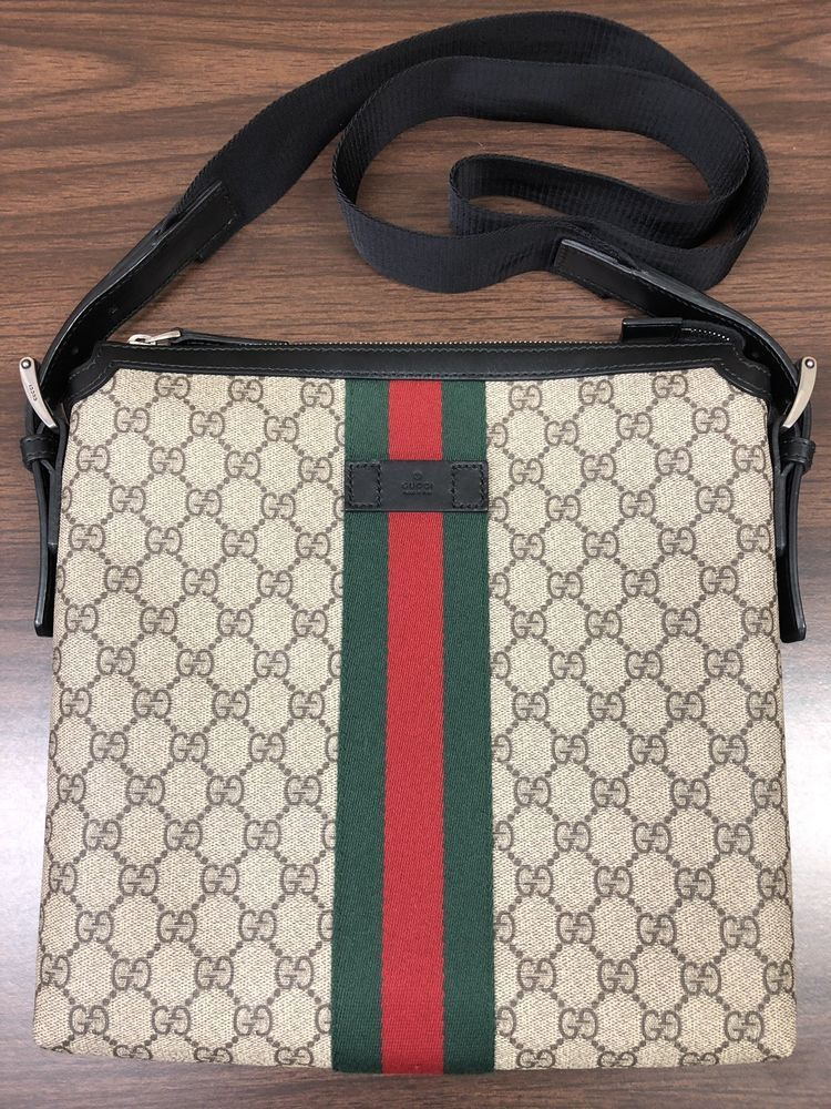 1aa2926cc1a Gucci-GG Supreme Web Band Messenger Bag 387111 Canvleather Beige (EUC!!)   fashion  clothing  shoes  accessories  womensbagshandbags (ebay link)