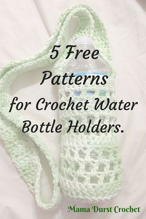 5 Free Patterns for Crochet Water Bottle Holders | Crochet animals ...