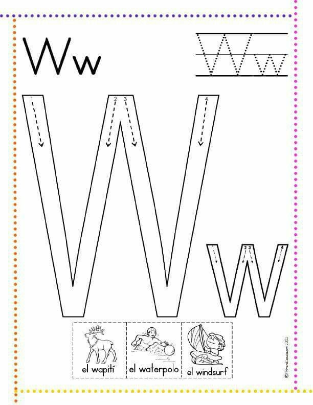 Pin By Yessy Maa On Galeria Escuela Letter W Activities Abc Worksheets Preschool Letters