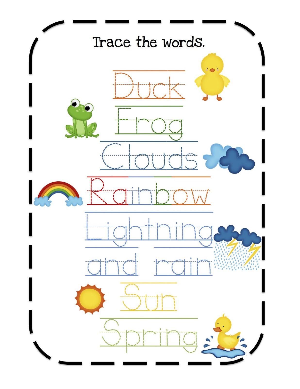 Preschool Printables Spring