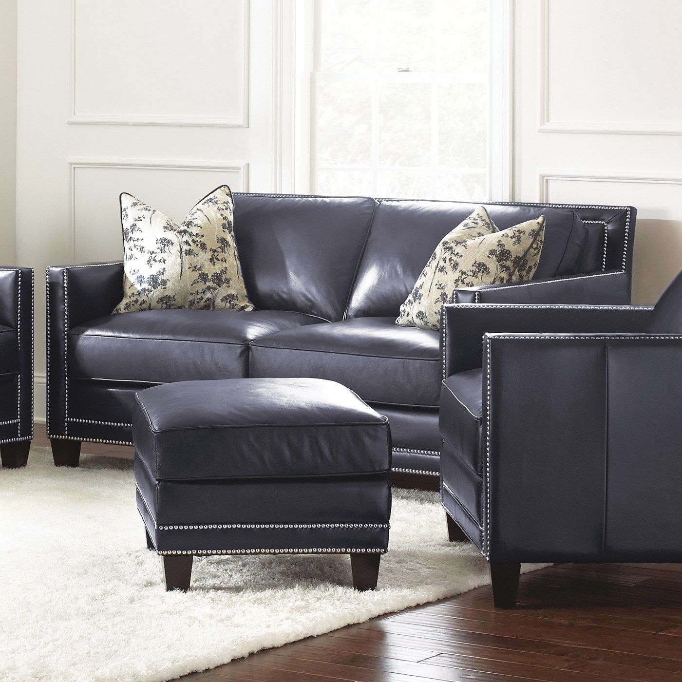black leather living room furniture sets%0A     Steve Silver Hendrix Loveseat with   Accent Pillows is an elegantly  modern piece perfect for contemporary decors  This allleather loveseat  features