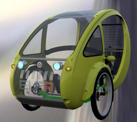 Is This Solar Powered Half Electric Bicycle With A Roof The Future Of Transportation Electric Bicycle Powered Bicycle Solar Car