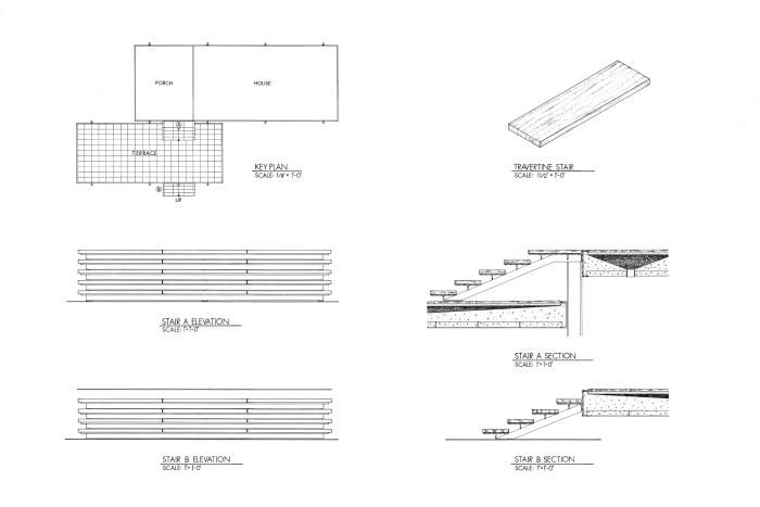 Fransworth house stair dimensions | M ies V an Der R ohe