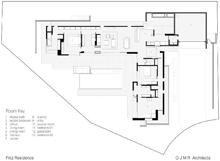 Simple Modernistic Suburban Desert House Floor Plan – Tropical House Floor Plans