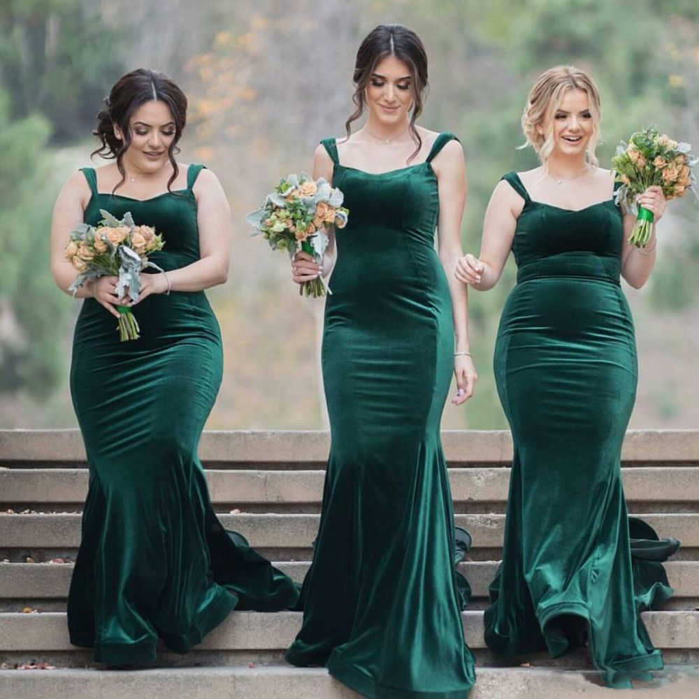 Green long mermaid font b velvet b font font b bridesmaid b font mermaid sexy teal green cheap long bridesmaid dresses the dress is fully lined 4 bones in the bodice chest pad in the bust lace up back or zipper back ombrellifo Images