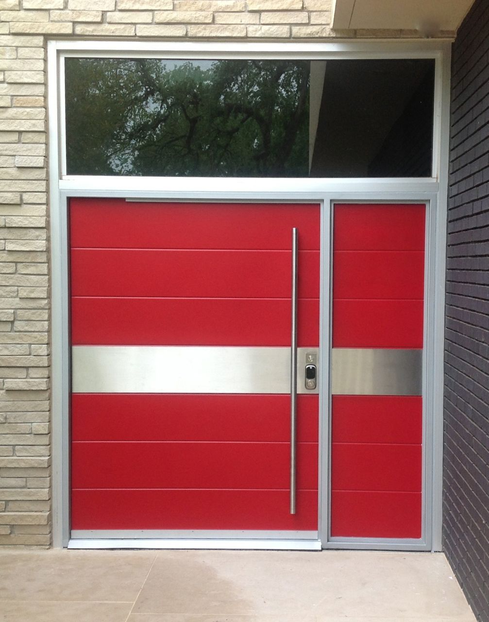 Modern contemporary door posted by portella steel doors for Modern exterior house entrance