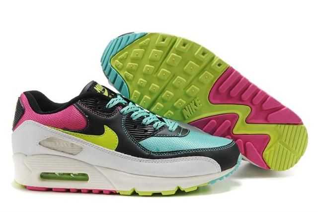 Espansione Oceano impressione  Nike Air Max 90 Black Pink Neon Green Turquoise , Price: $70.80 | Nike air  max, Nike air max 90 black, Nike air max 90