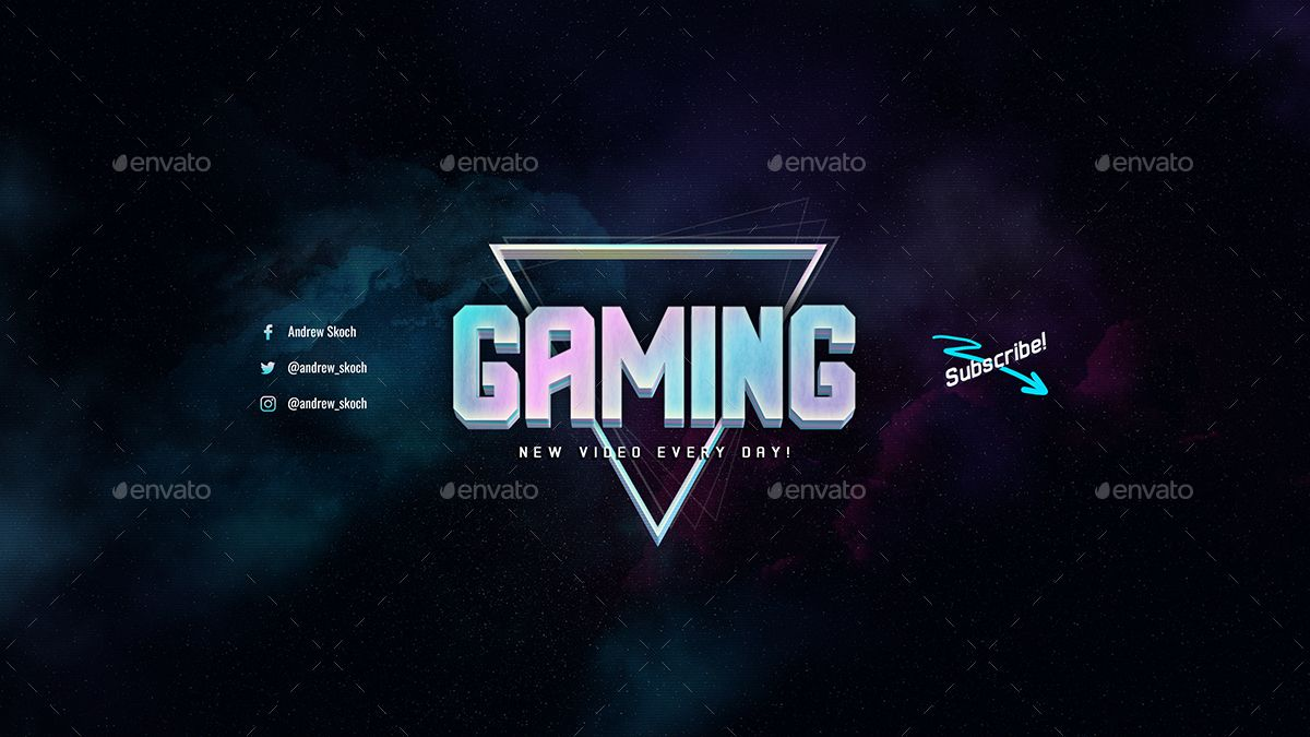 Gaming YouTube Channel Art Ad YouTube, spon, Gaming,