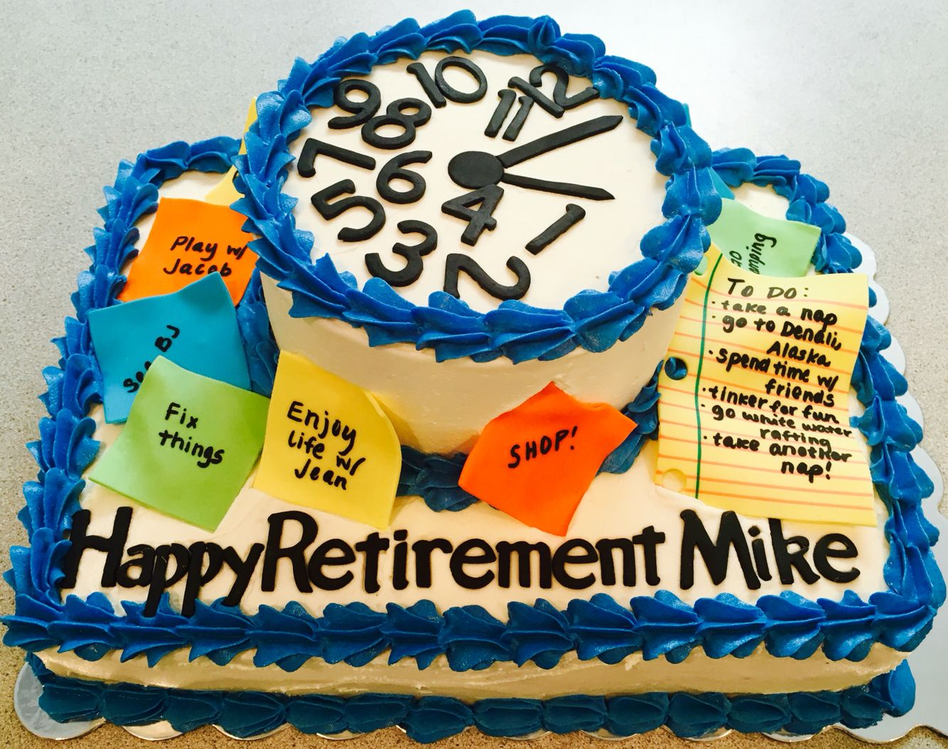 Clock Retirement Cake Visit Bubba Amp Bellie S Creative