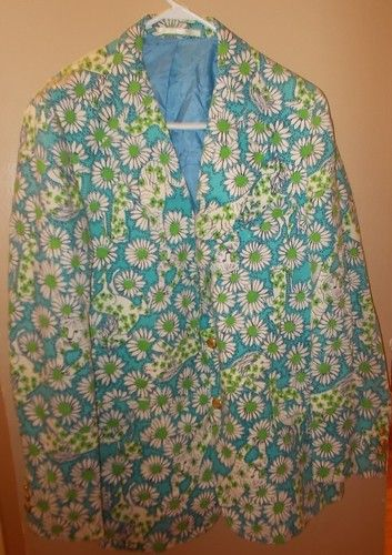 cb1bebc3c7bdc6 Extremely RARE - 60's LILLY PULITZER MEN'S STUFF PALM BEACH BLAZER JACKET.  Lions, Tigers, Horses, Dogs and Seals. 50