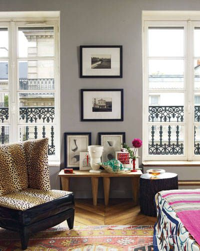 Parisian Decor a paris apartment packed with color | paris apartments, elle decor