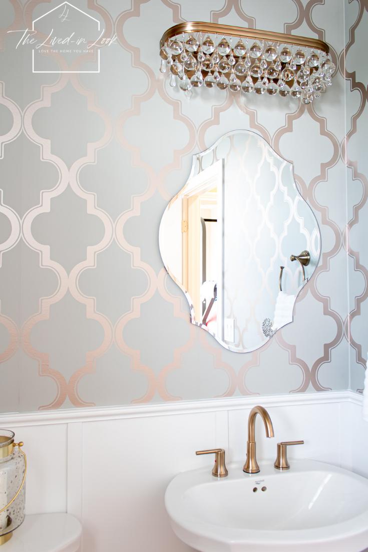 Glam Powder Room Inspiration And Reveal Powder Room Decor
