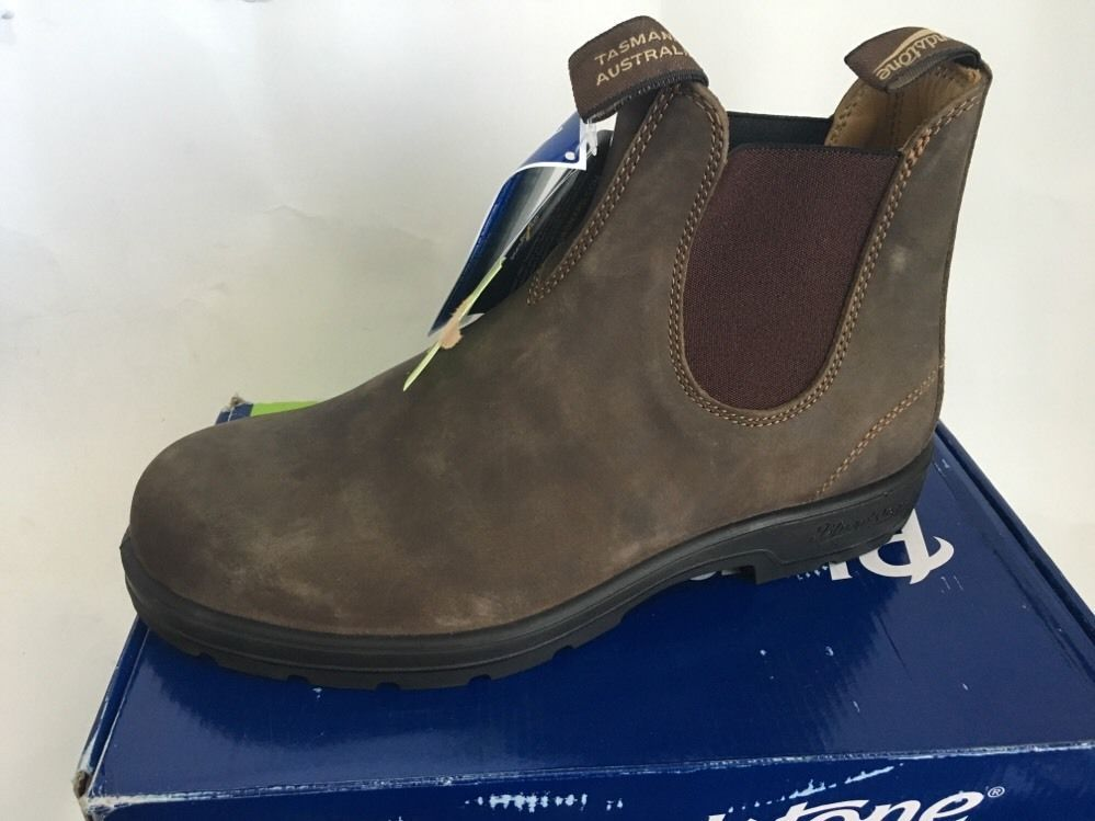 Blundstone 585 Rustic Brown Men's Premium Leather Boot US 11.5 New # Blundstone #AnkleBoots