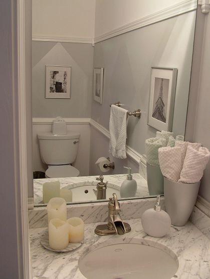 Low budget, high-end bathroom.